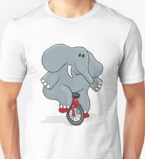 Cyclists Elephant Unisex T-Shirt