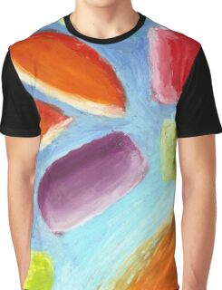 Abstract Oil Pastels Painting No 4 Graphic T-Shirt