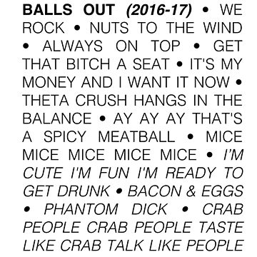 Balls Out 2016-2017 by ryderchasin