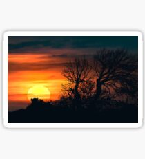 Sunset at Nature Landscape Scene Sticker