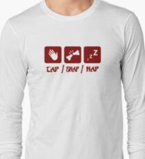 Tap / Snap / Nap (BJJ / Judo / Wrestling) Long Sleeve T-Shirt