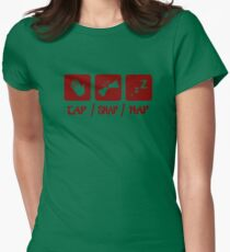 Tap / Snap / Nap (BJJ / Judo / Wrestling) Womens Fitted T-Shirt