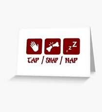 Tap / Snap / Nap (BJJ / Judo / Wrestling) Greeting Card