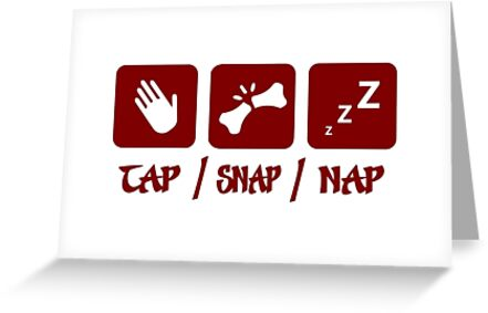 Tap Snap Nap Bjj Judo Wrestling Greeting Cards By
