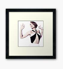Kristen Wiig SNL bumper Framed Print
