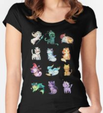 League of Support Cats ! Women's Fitted Scoop T-Shirt