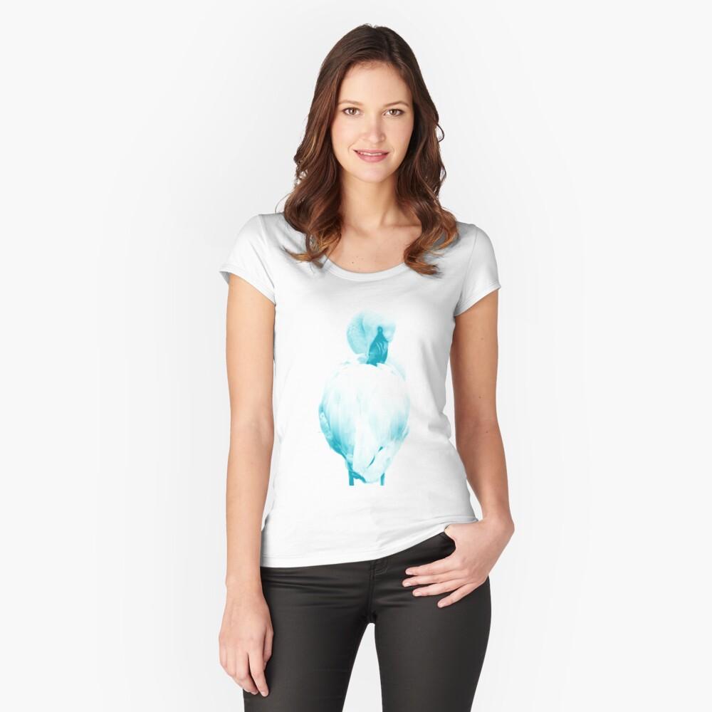 Flamingo 01 Tailliertes Rundhals-Shirt