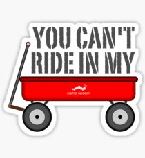 Kleiner roter Wagen Sticker