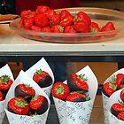 Strawberries with a Belgian chocolate coating by Arie Koene