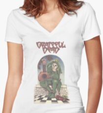 Grateful Dead - The Musician Traveler Women's Fitted V-Neck T-Shirt