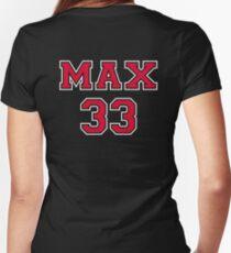 Max Verstappen 33 Women's Fitted V-Neck T-Shirt