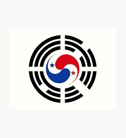 Korean Panamanian Multinational Patriot Flag Series Art Print