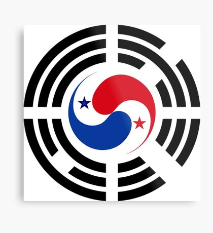 Korean Panamanian Multinational Patriot Flag Series Metal Print