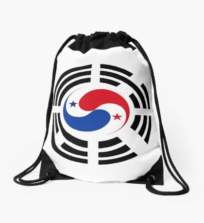 Korean Panamanian Multinational Patriot Flag Series Drawstring Bag