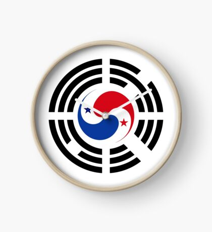 Korean Panamanian Multinational Patriot Flag Series Clock