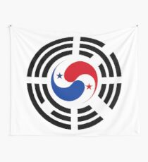 Korean Panamanian Multinational Patriot Flag Series Wall Tapestry