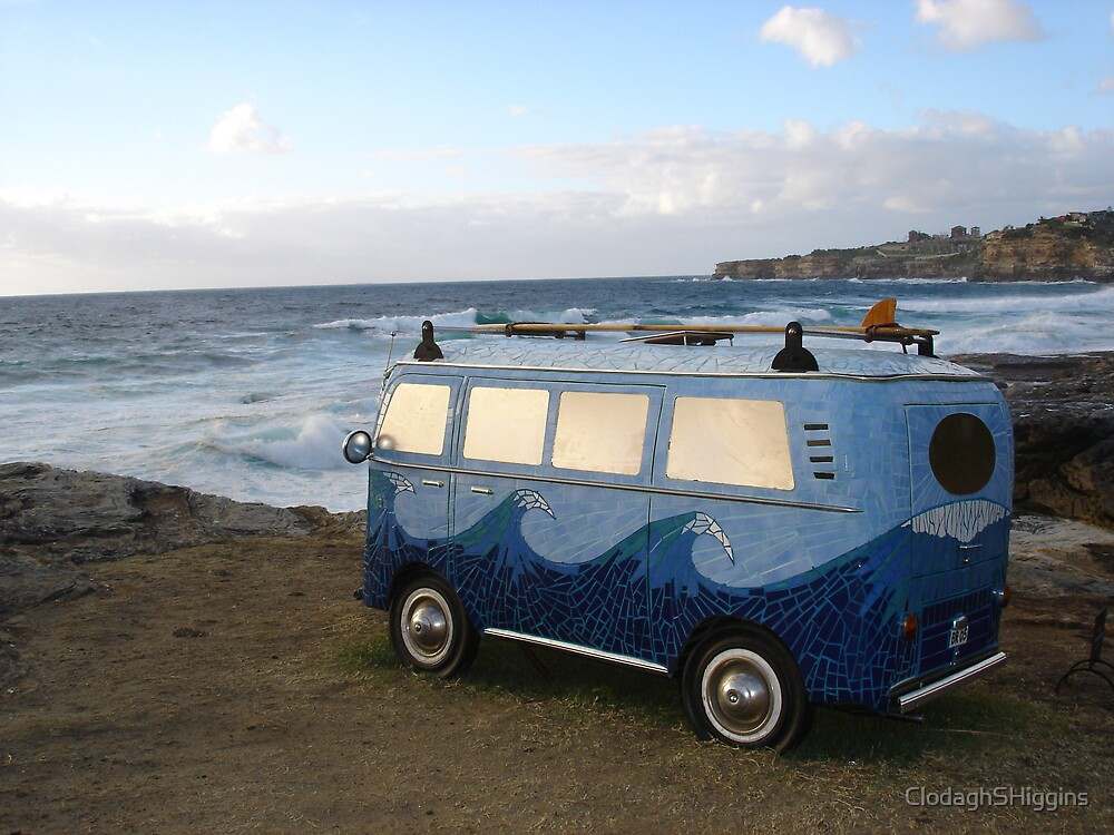 Mosaic Campervan Sculpture by the Sea November 2005 by ClodaghSHiggins