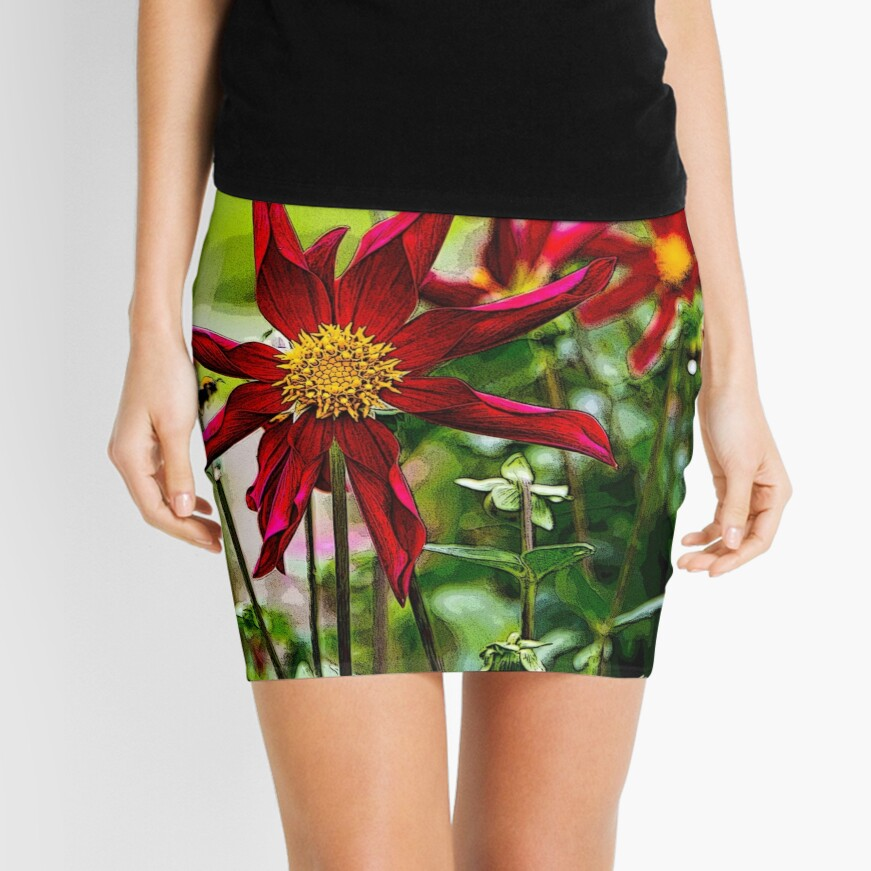 Flower and the Bee Mini Skirt