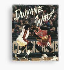 D Wade Miami Chicago Sports Artwork Canvas Print