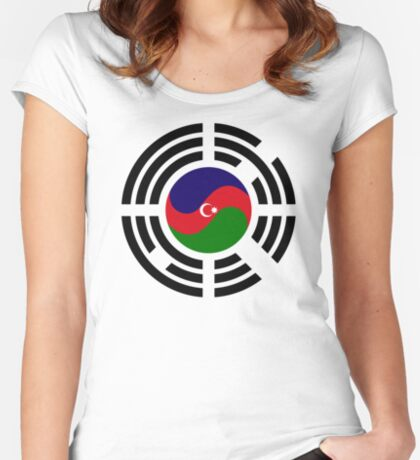 Korean Azerbaijan Multinational Patriot Flag Series Fitted Scoop T-Shirt