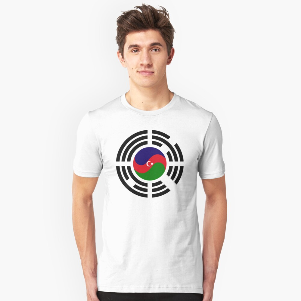 Korean Azerbaijan Multinational Patriot Flag Series Slim Fit T-Shirt