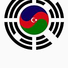 Korean Azerbaijan Multinational Patriot Flag Series by Carbon-Fibre Media
