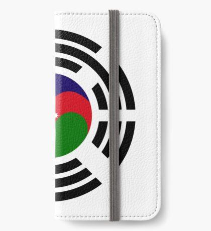 Korean Azerbaijan Multinational Patriot Flag Series iPhone Wallet