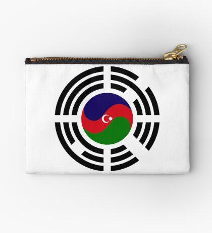 Korean Azerbaijan Multinational Patriot Flag Series Zipper Pouch