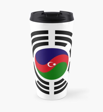 Korean Azerbaijan Multinational Patriot Flag Series Travel Mug