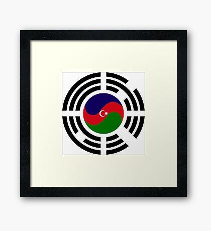 Korean Azerbaijan Multinational Patriot Flag Series Framed Print