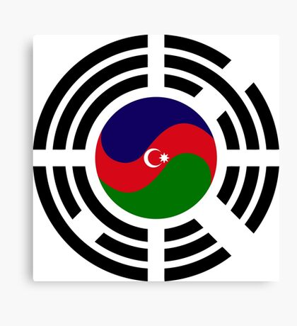 Korean Azerbaijan Multinational Patriot Flag Series Canvas Print