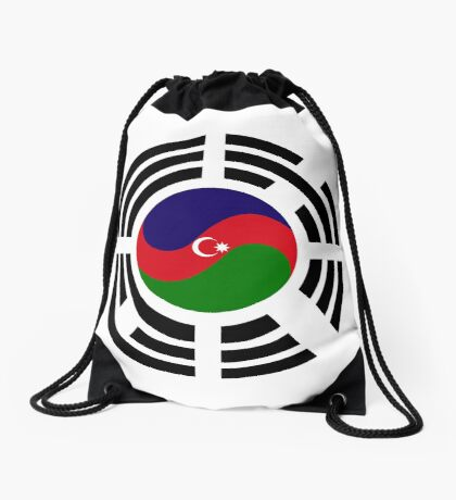 Korean Azerbaijan Multinational Patriot Flag Series Drawstring Bag