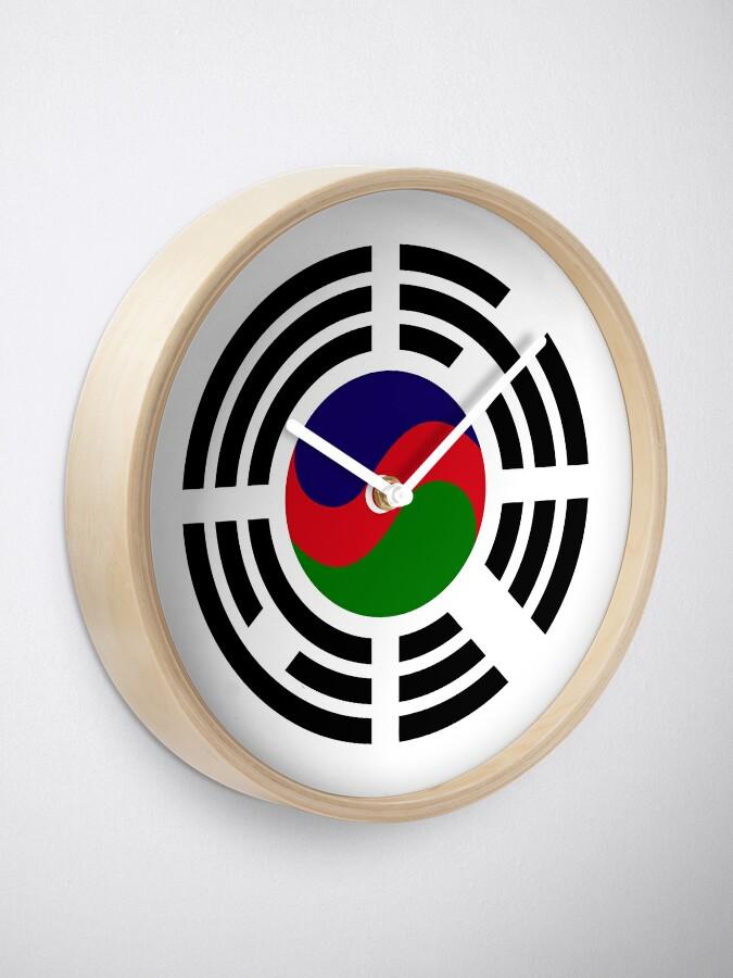 Alternate view of Korean Azerbaijan Multinational Patriot Flag Series Clock