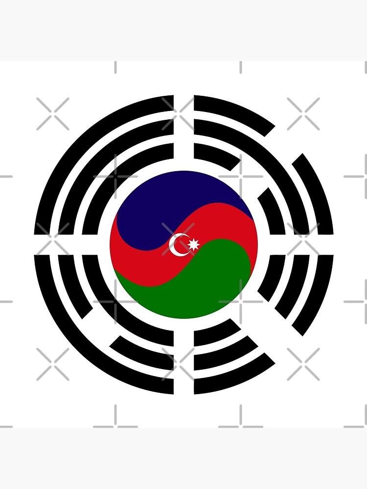 Korean Azerbaijan Multinational Patriot Flag Series by carbonfibreme
