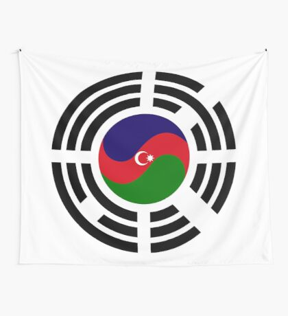 Korean Azerbaijan Multinational Patriot Flag Series Wall Tapestry