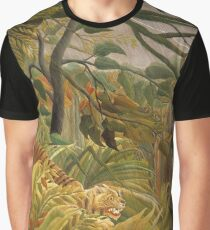 Henri Rousseau - Tiger in a Tropical Storm 1891  Graphic T-Shirt