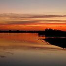 Sunset over Abberton by newbeltane