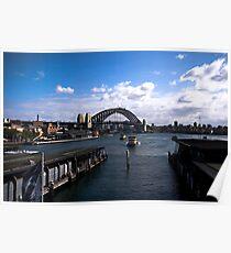 Arriving at Circular Quay Sydney Poster