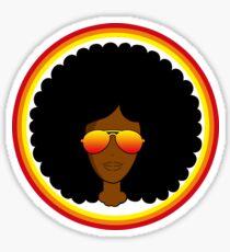 Black Girl Magic Red Shades Sticker