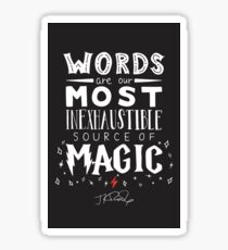 JK Rowling Magic Quote Sticker