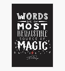 JK Rowling Magic Quote Photographic Print