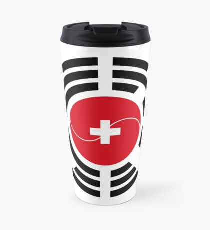Korean Swiss Multinational Patriot Flag Series Travel Mug