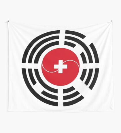 Korean Swiss Multinational Patriot Flag Series Wall Tapestry