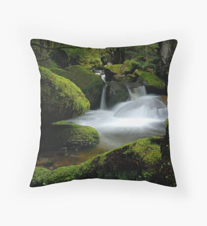 Mossy Cascades Throw Pillow