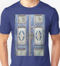 Old decorative beautiful wooden door T-Shirt