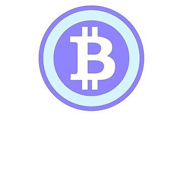 Bitcoin Blue by CryptoCoinTees