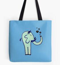 Blue Elephant Blowing Bubbles Tote Bag