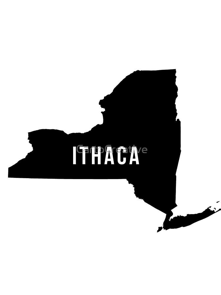 Ithaca, New York State Silhouette by CartoCreative