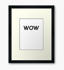 Dogecoin WOW Framed Print