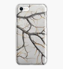 Macro photo of a dry gorgonian coral iPhone Case/Skin